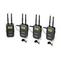 SARAMONIC 5.8GHZ 1+3 WIRELESS MICROPHONE SYSTEM (3 TRANSMITTERS + 1 RECEIVER)