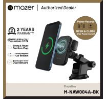 Mazer/M-NAW-004A-BK/Infinite.Boost Mag.Drive V2.0 15W Dual-Secure Magentic Car Mount w car charger-Black